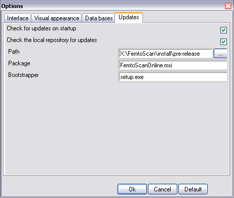 Options for auto-updates from the local repository