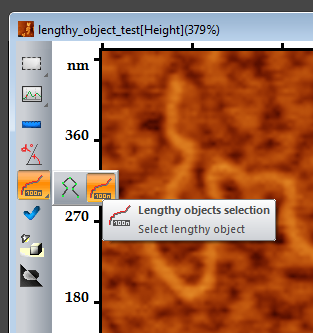 "Switching to the ""Lengthy object selection"" mode"